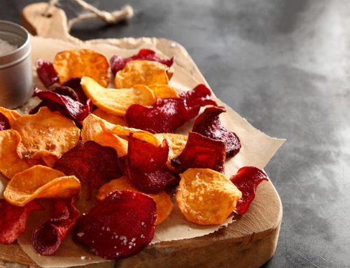 Chips de verdura al horno