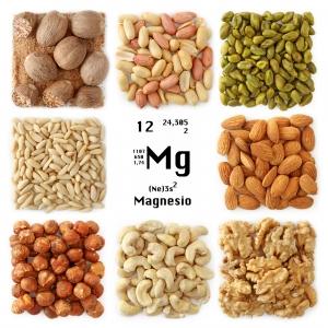 Imagen de nueces y magnesio